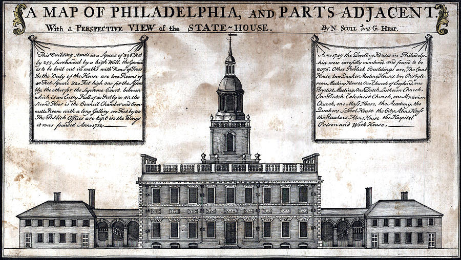 1750s Photograph - A Perspective View Of The State-house by Everett