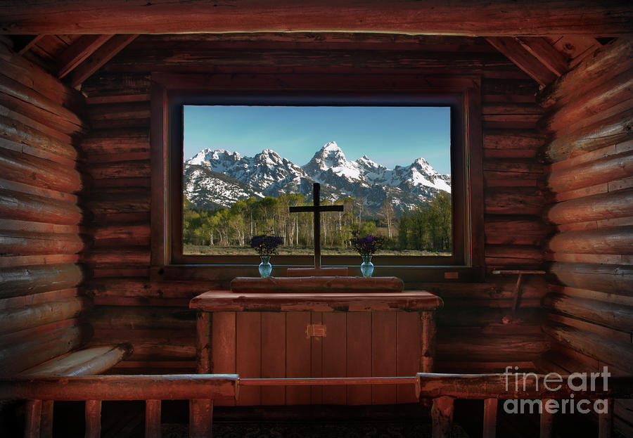 A Pew With A View Photograph  - A Pew With A View Fine Art Print