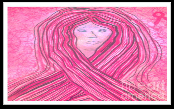 A Pink Ribbon  Mixed Media
