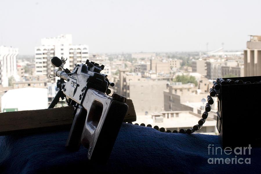 A Pk 7.62mm Machine Gun Nest On Top Photograph
