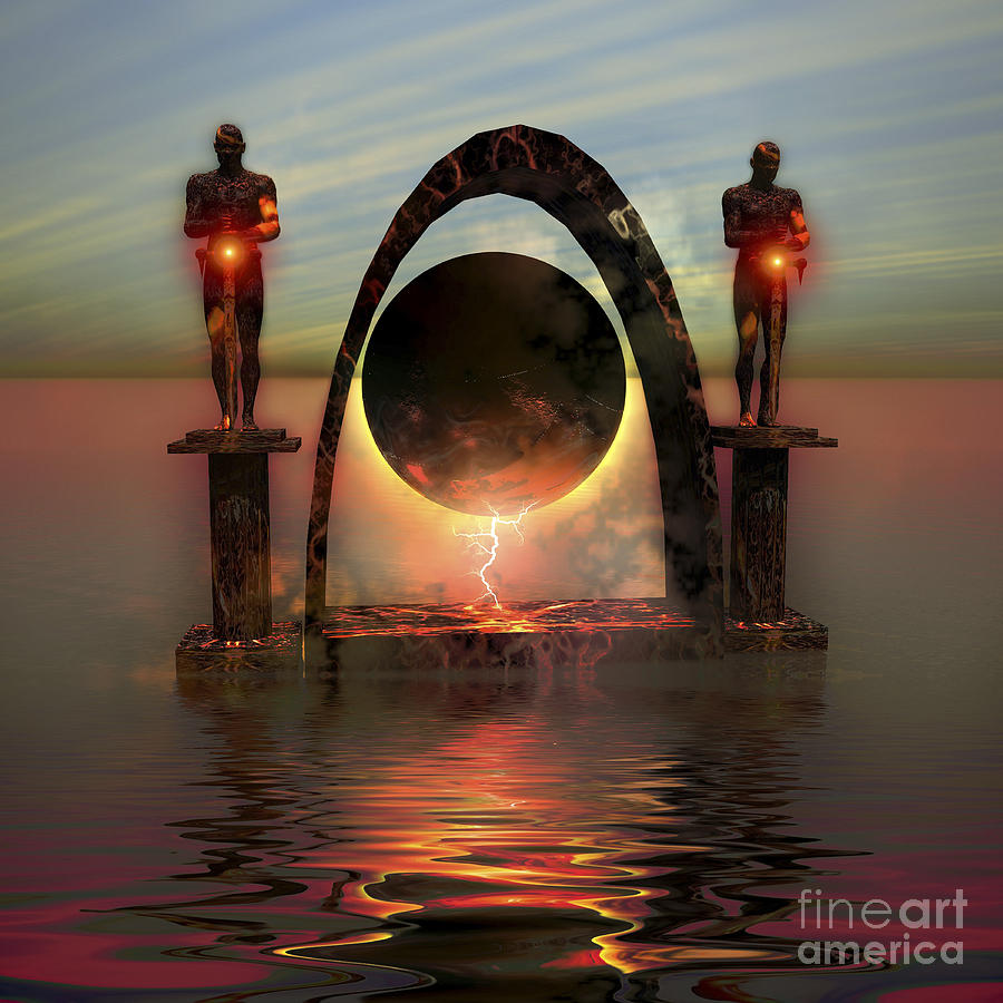 A Portal To Another Dimensional World Digital Art  - A Portal To Another Dimensional World Fine Art Print