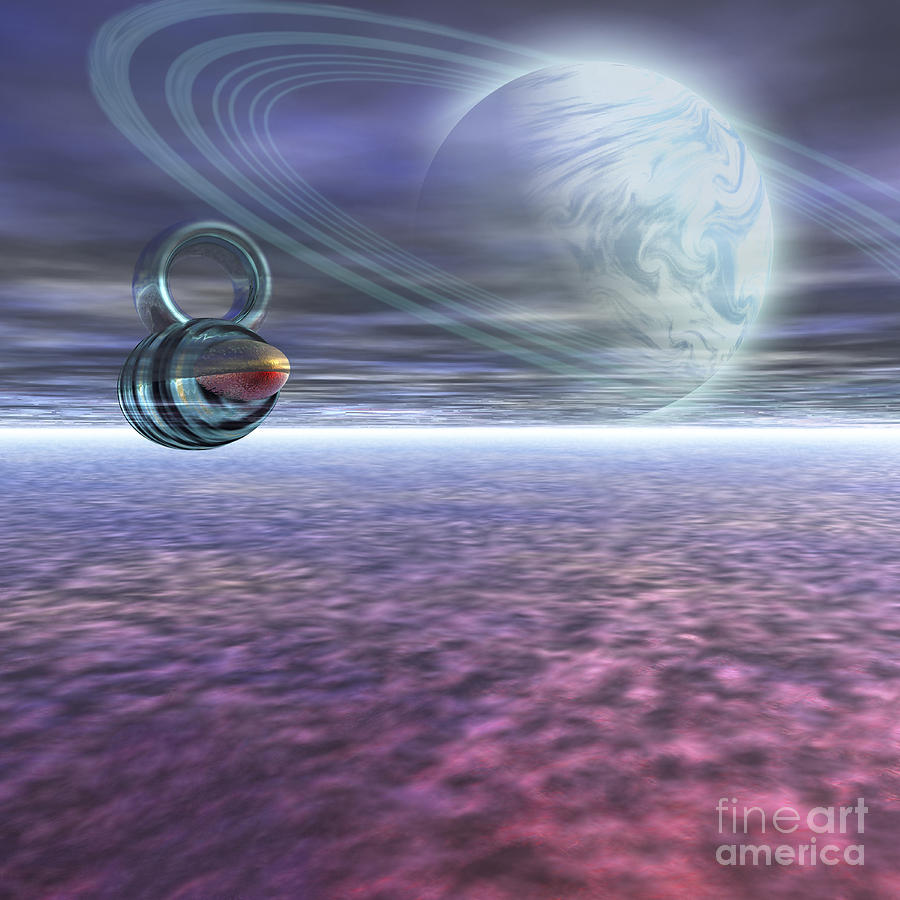 A Probe From Earth Is Sent To Jupiter Digital Art  - A Probe From Earth Is Sent To Jupiter Fine Art Print