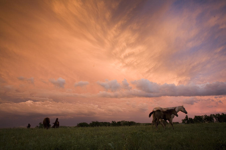 A Receding Thunderstorm Creates Photograph