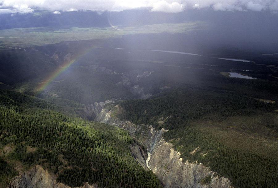 A River Cuts Through A Gorge In Alaska Photograph