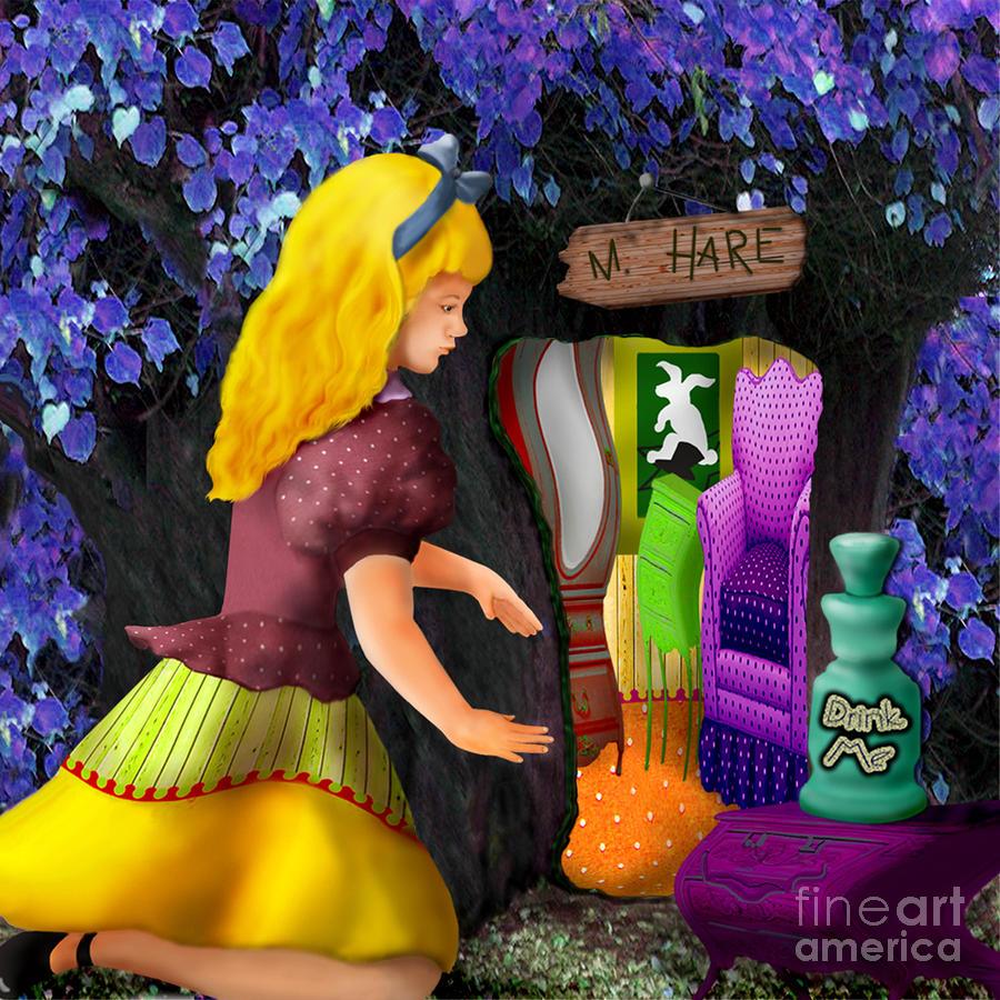 Alice Digital Art - A Room In Wonderland  by Lois Mountz