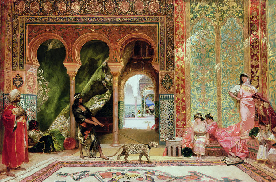 A Royal Palace In Morocco Painting
