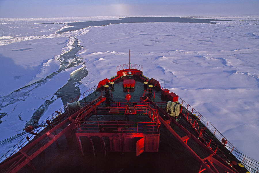 A Russian Nuclear Icebreaker, Forges Photograph