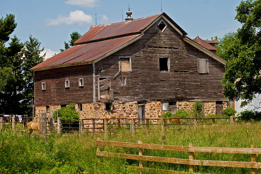Barn Photograph - A Rustic Barn by Wayne Stabnaw
