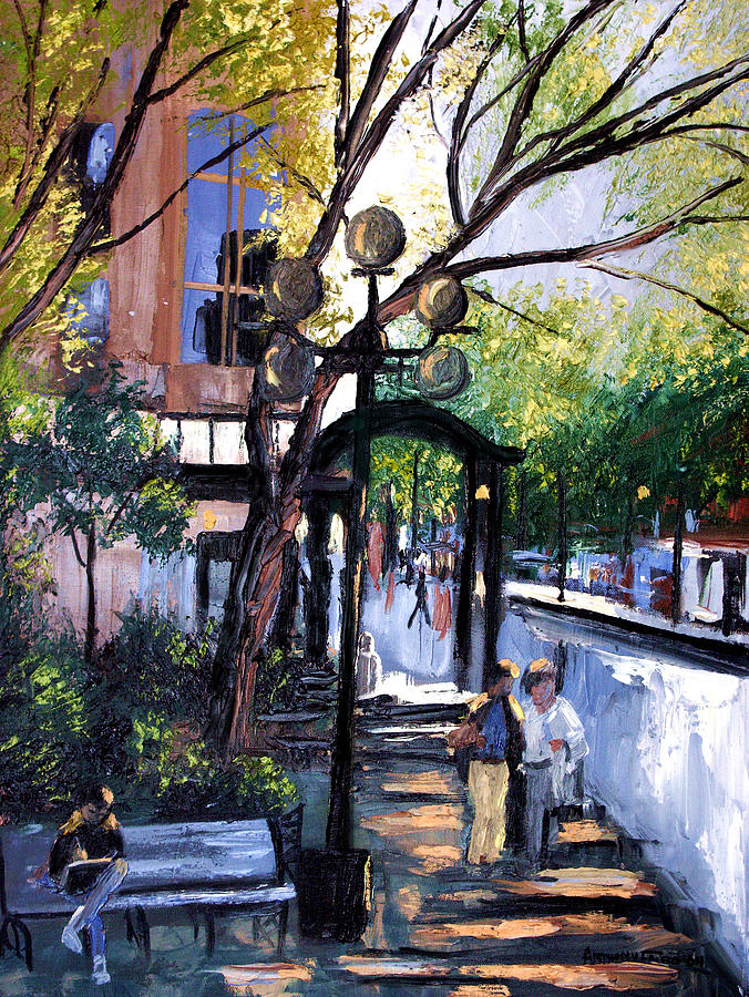 A Saturday Stroll  Painting