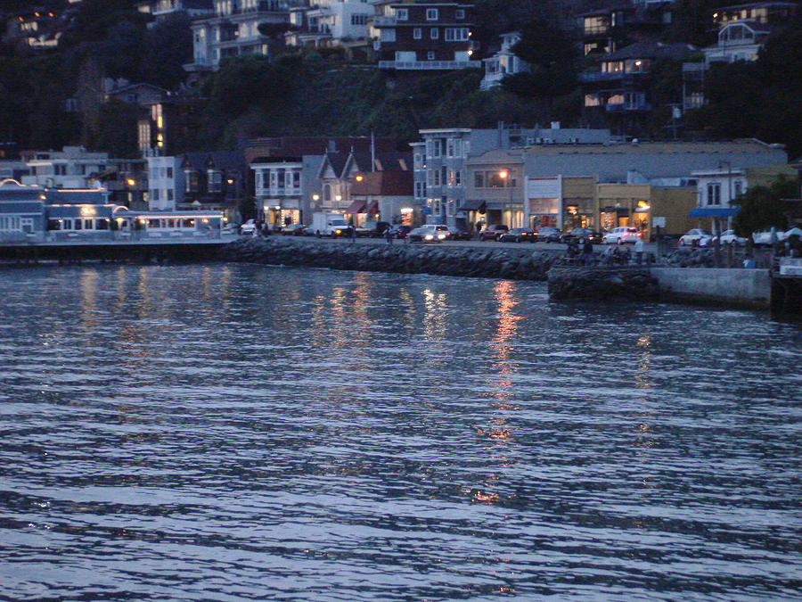 A Scenery Of Sausalito At Dusk Photograph  - A Scenery Of Sausalito At Dusk Fine Art Print