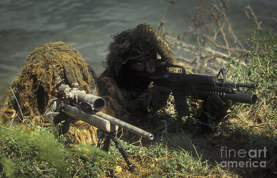 A Seal Sniper Swim Pair Set Up An Photograph
