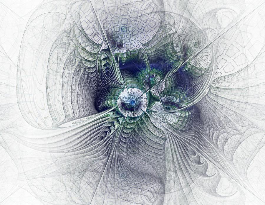 A Secret Sky - Fractal Art Digital Art