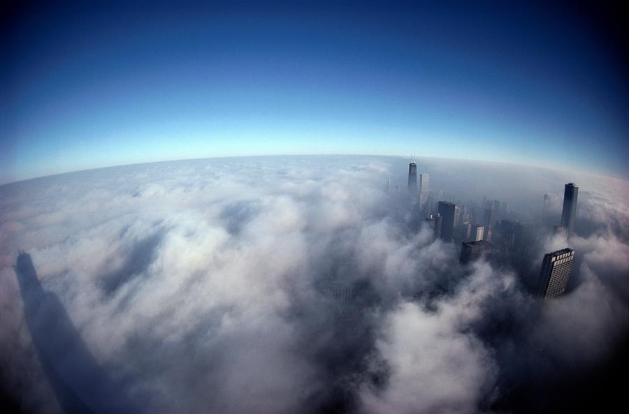 A Shadow Of The Sears Tower Slants Photograph