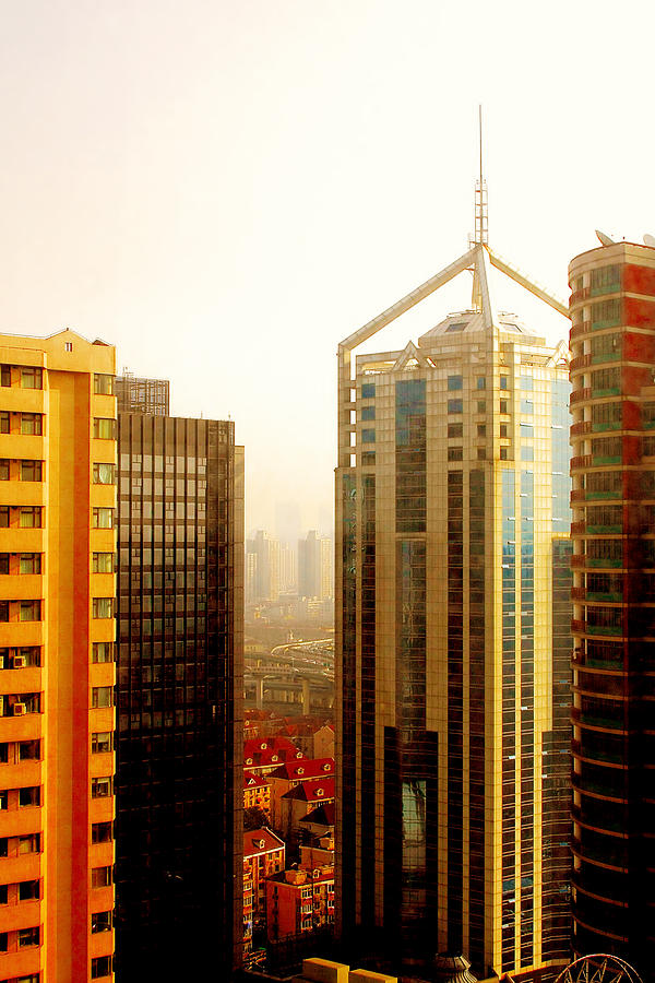 A Shanghai Sunset Photograph  - A Shanghai Sunset Fine Art Print