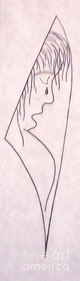 Drawing - A Shoulder To Cry On by Kip Vidrine