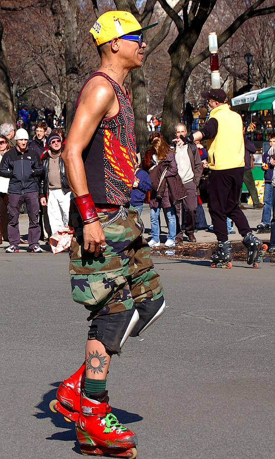 A Skater In Central Park Photograph  - A Skater In Central Park Fine Art Print