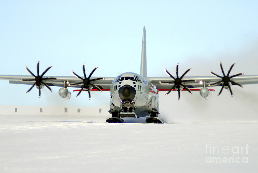 A Ski-equipped Lc-130 Hercules Photograph