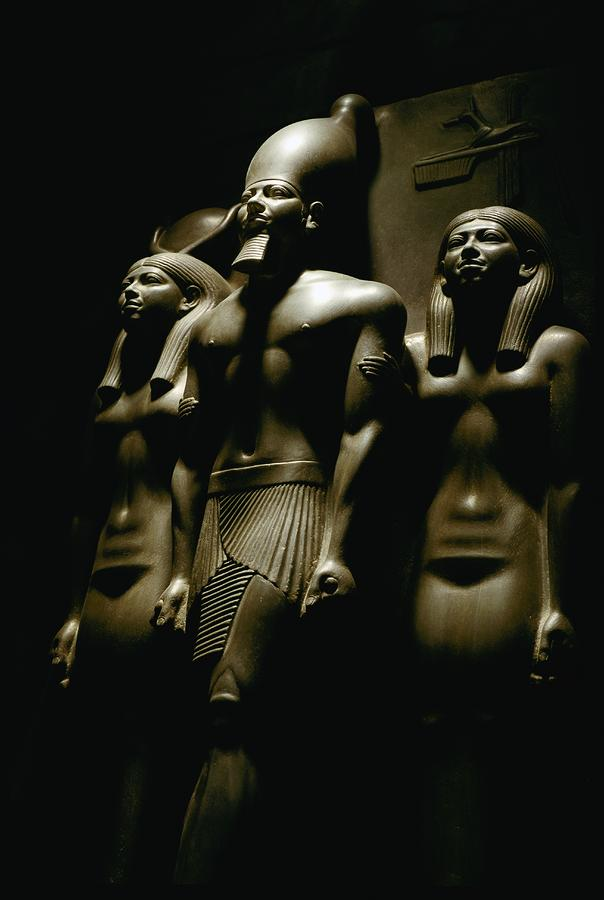 A Statue Of Pharoh Menkaura Photograph