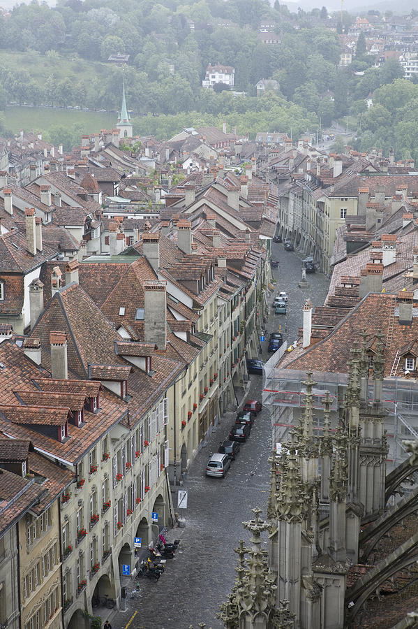 A Street In The City Of Bern Photograph  - A Street In The City Of Bern Fine Art Print