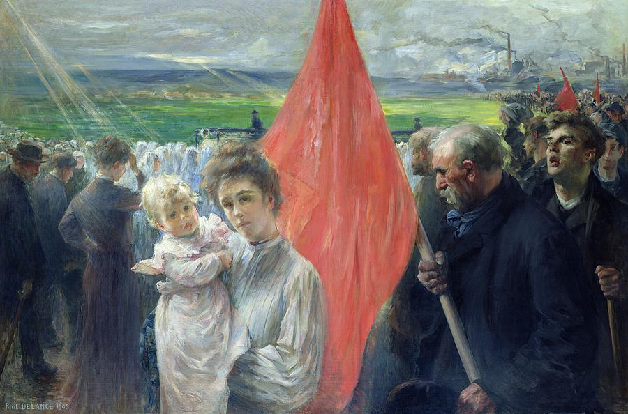 A Strike At Saint Ouen Painting
