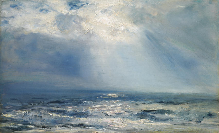 A Sunbeam Over The Sea Painting