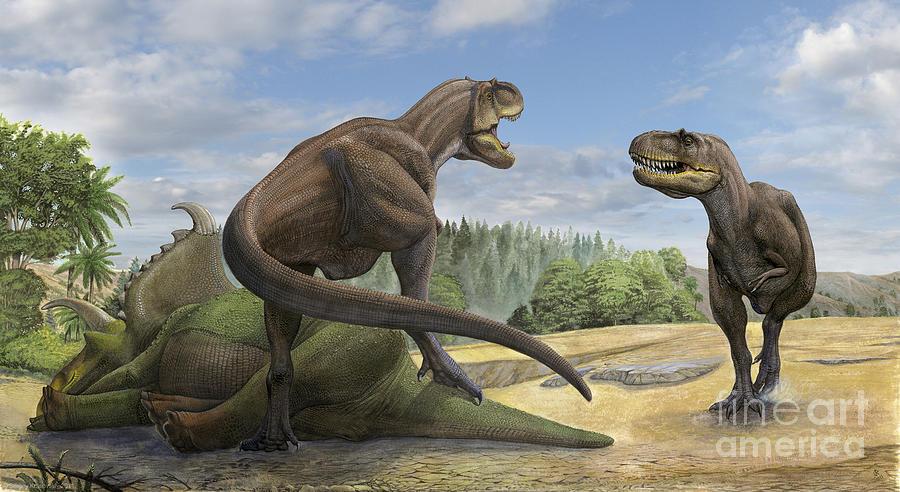 A Teratophoneus Dinosaur Defends Digital Art By Sergey