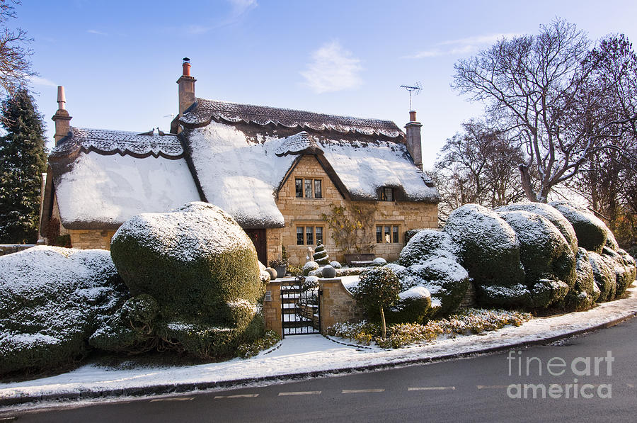 A Thatched Cottage In The Cotswolds  Photograph