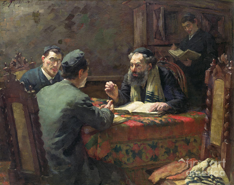 A Theological Debate Painting By Eduard Frankfort
