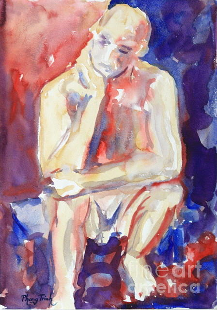 A Thinker Painting