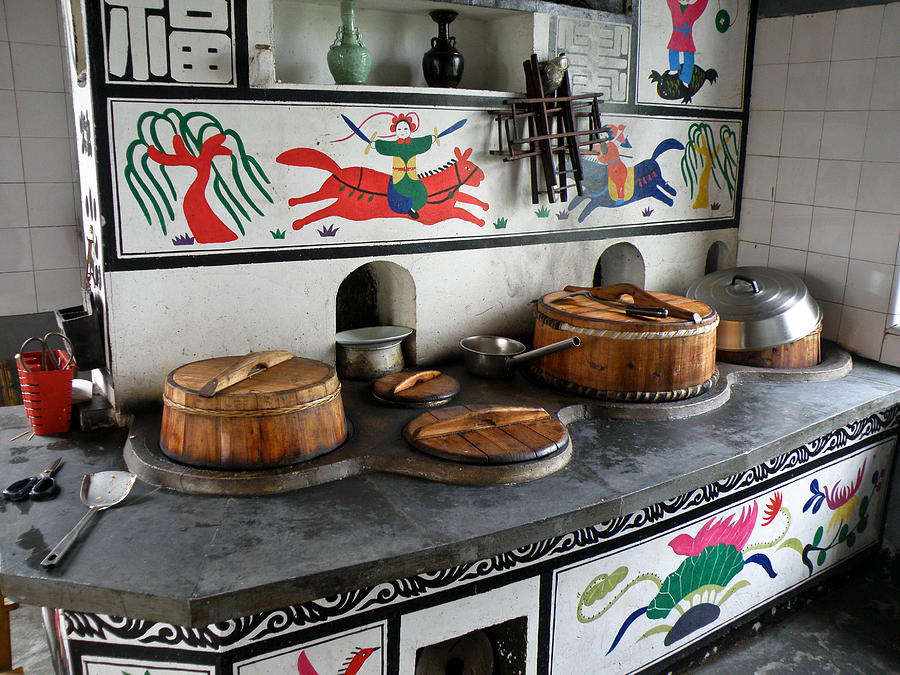 Still Photograph - A Traditional Chinese Kitchen Corner by Jiayin Ma