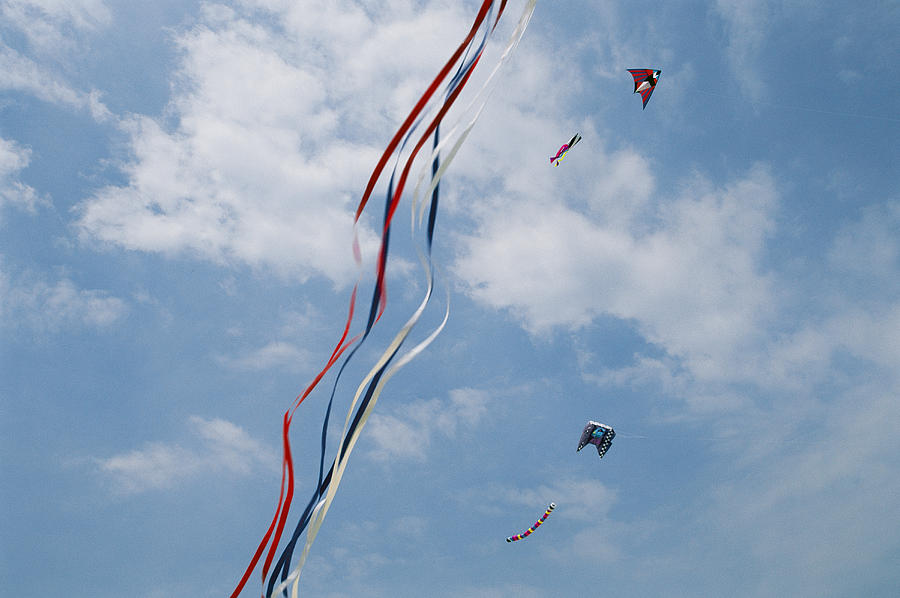 A Train Of Kites Flies At The Jockeys Photograph