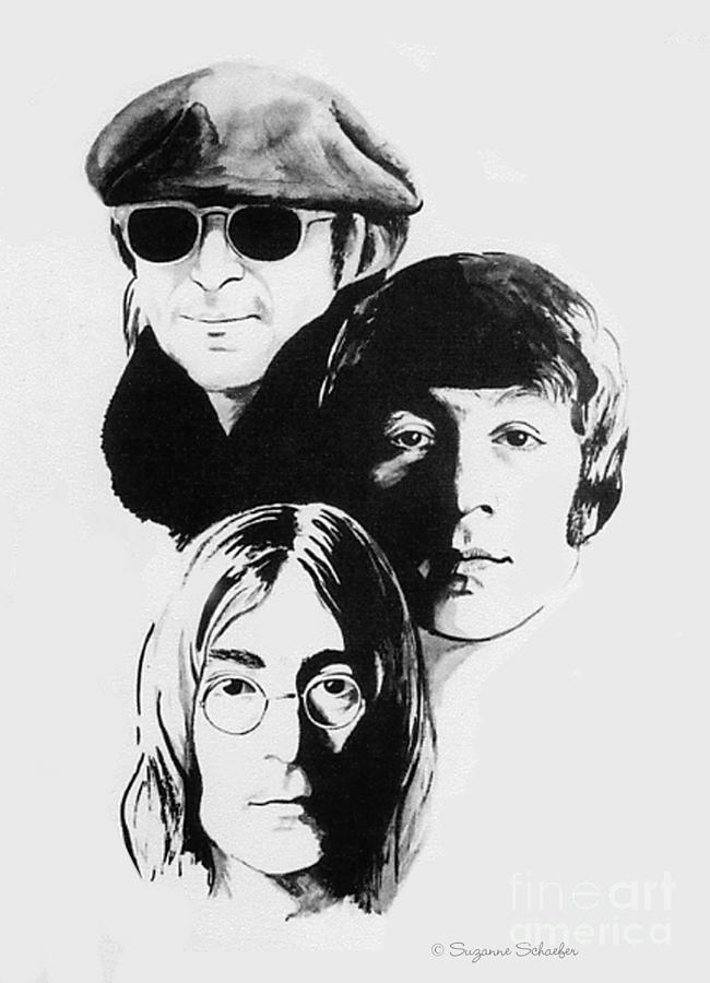 A Tribute To Lennon Drawing  - A Tribute To Lennon Fine Art Print