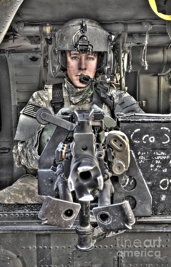 A Uh-60 Black Hawk Door Gunner Manning Photograph