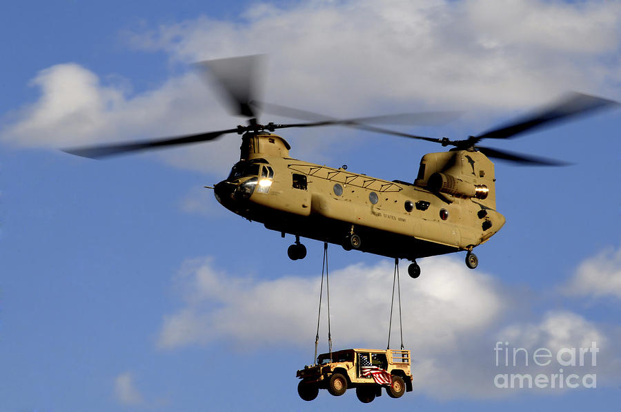 A U.s. Army Ch-47 Chinook Helicopter Photograph  - A U.s. Army Ch-47 Chinook Helicopter Fine Art Print