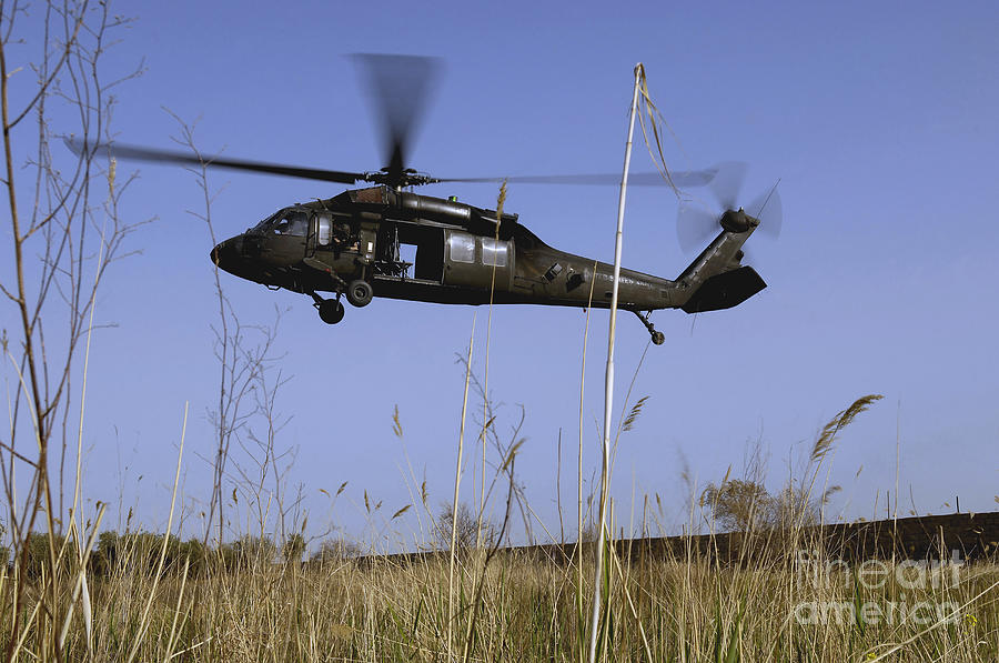 A U.s. Army Uh-60 Black Hawk Helicopter Photograph  - A U.s. Army Uh-60 Black Hawk Helicopter Fine Art Print