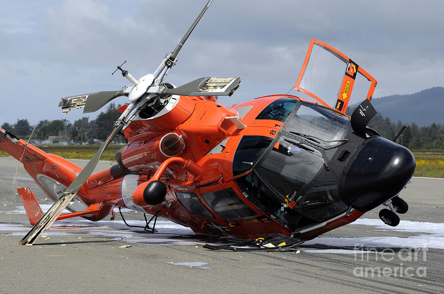A U.s. Coast Guard Mh-65 Dolphin by Stocktrek Images