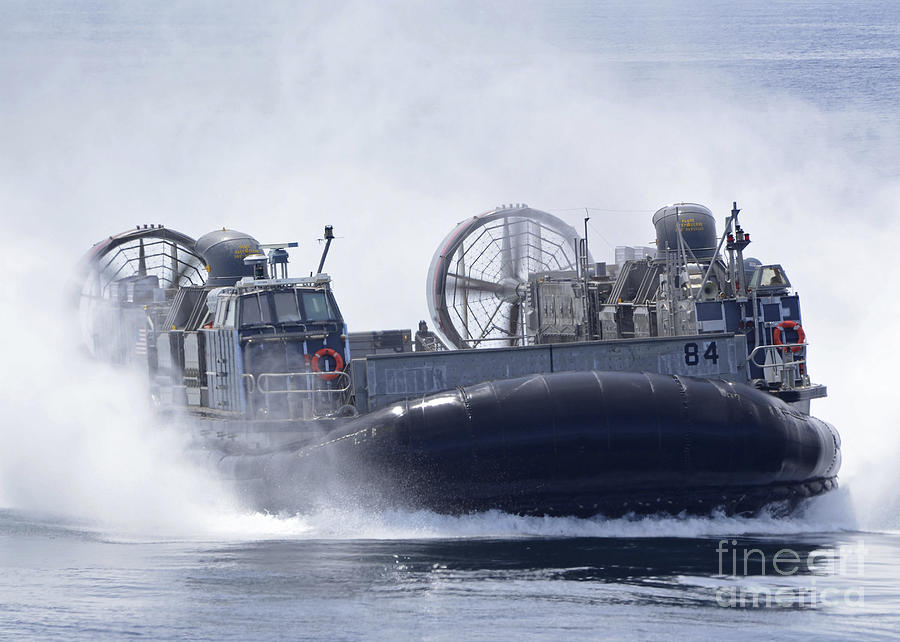 Military Photograph - A U.s. Marine Corps Landing Craft Air by Stocktrek Images