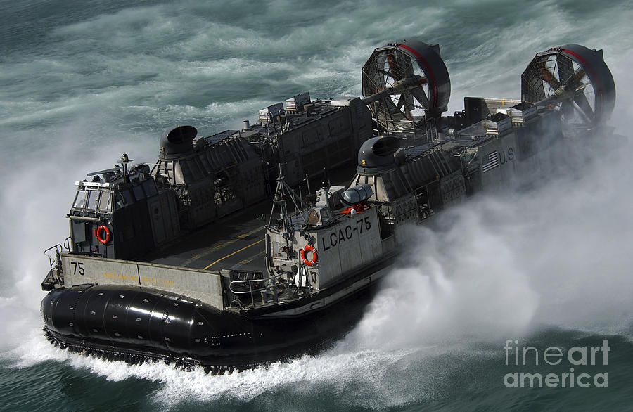 A U.s. Navy Landing Craft Air Cushion Photograph