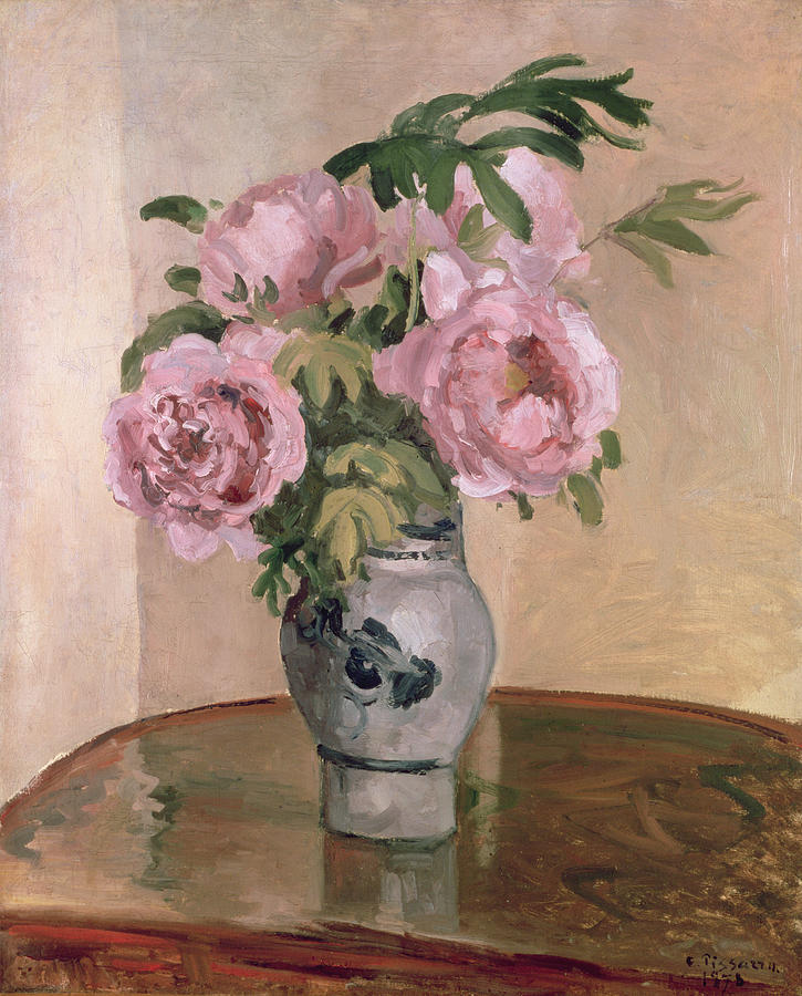 A Vase Of Peonies Painting