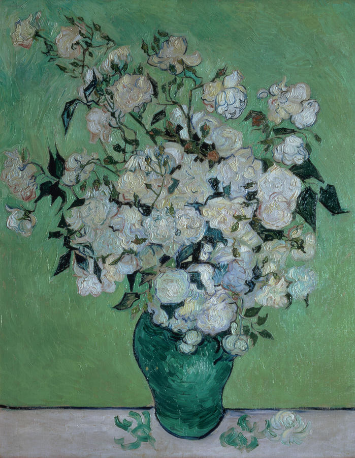 A Vase Of Roses Painting