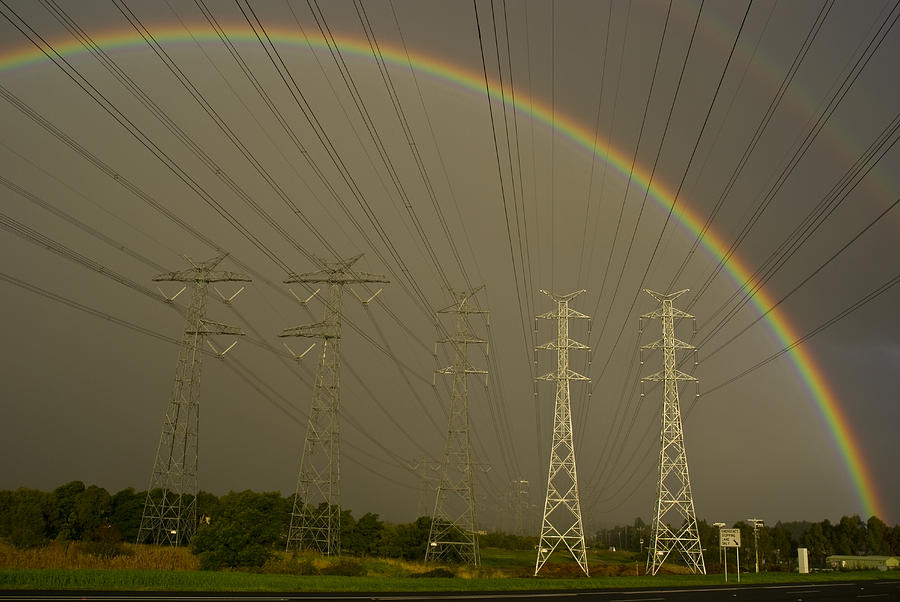 A Vast Array Of Electrical Towers Photograph