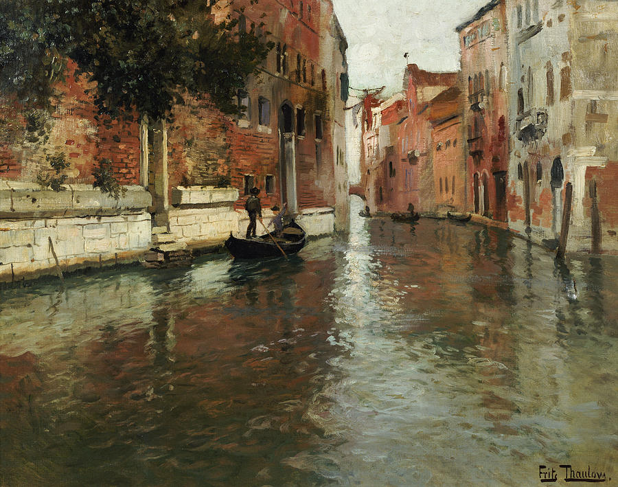 A Venetian Backwater  Painting  - A Venetian Backwater  Fine Art Print