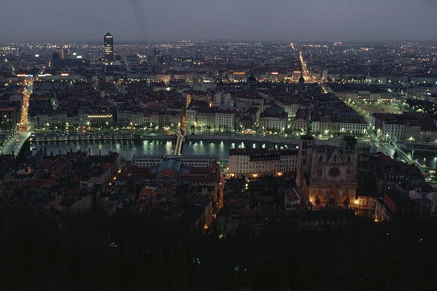 A View Of Lyon Between The Pont De La Photograph