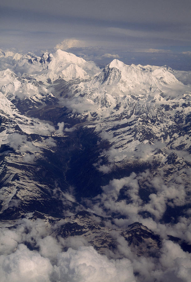 A View Of Mount Everest Massif R Photograph  - A View Of Mount Everest Massif R Fine Art Print