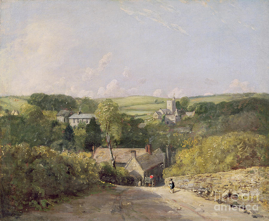A View Of Osmington Village With The Church And Vicarage Photograph