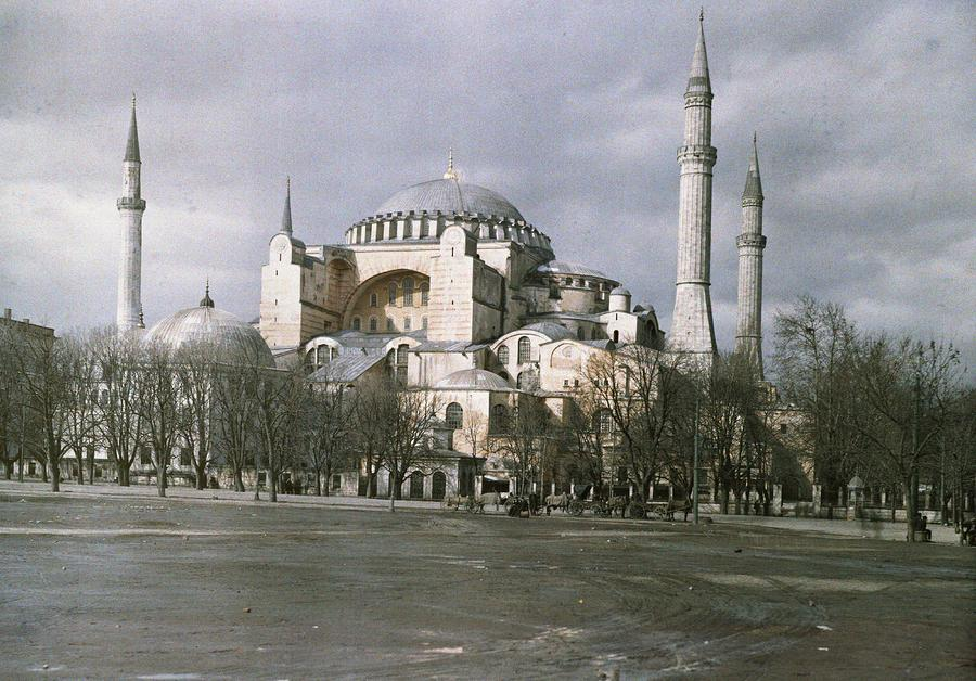 A View Of Sancta Sophia From Arcoss Photograph