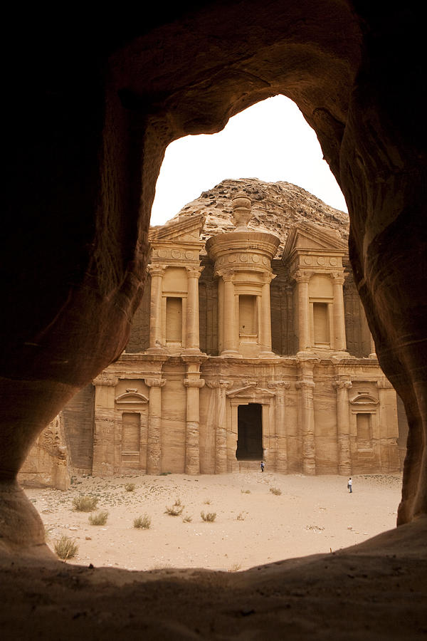 A View Of The Monastary In Petra Photograph  - A View Of The Monastary In Petra Fine Art Print