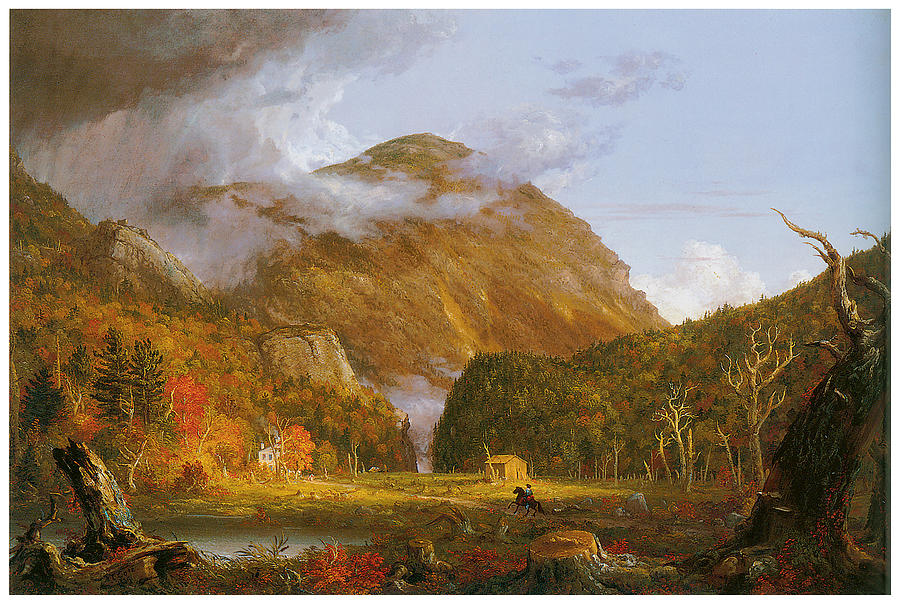 A View Of The Mountain Pass Called The Notch Of The White Mountains Painting  - A View Of The Mountain Pass Called The Notch Of The White Mountains Fine Art Print