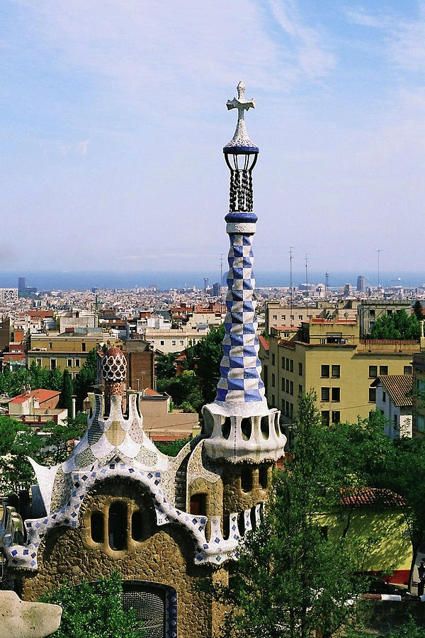 A View Over Barcelona From Parc Guell. Photograph