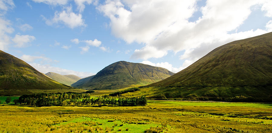 Rannoch Moor Photograph - A View Over Rannoch Moor by Chris Thaxter
